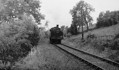 47531 steams to Coniston from Woodlands with a short freight train in 1961. (Russ Cribb) Tags: woodlands branch railway steam coniston 1961 furness russcribb