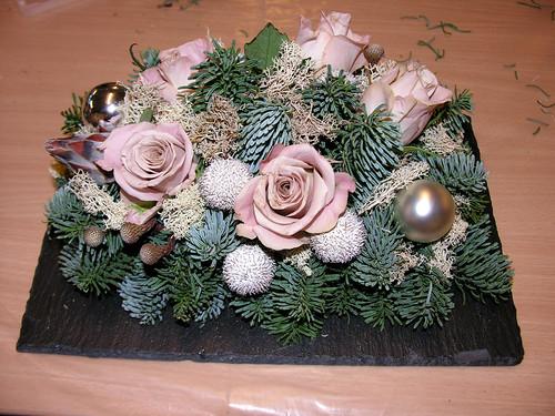 Bloemschikken voor de Kerst in Zonneheem