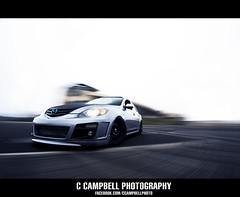 The Mazda's (C. Campbell) Tags: white oregon grey shot northwest or fast racing eugene rig hatch mazda sick lowered jdm stance autzen facelift jdmyo facebookcomccampbellphoto