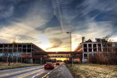 Sunset at the Packard (Notkalvin) Tags: sunset abandoned detroit hdr packard newownership mikekline michaelkline notkalvin automotiveruins notkalvinphotography