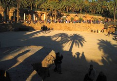 Light and shadows - Park Güell in Barcelona (Sokleine) Tags: barcelona light spain shadows modernism catalonia unesco espana esplanade gaudi espagne unescoworldheritage barcelone güell parkgüell catalogne decliningsun