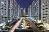 Unequal Density (bing dun (nitewalk)) Tags: singapore chinatown cityscape nightscape trails tbd trailing honglim nitewalk bingdun