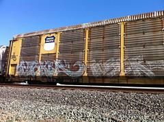 Pesker Toser (TheSmell) Tags: california up train graffiti pacific streak tag union graff bomb freight sate toser handstyle fr8 whistleblower moniker autoracks pesker