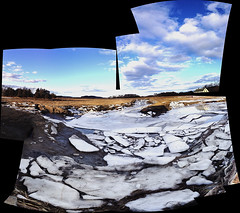 IMG0640iPH5  Ice Field   2014 Paul Light (Paul Light) Tags: autostitch ice massachusetts ipswich
