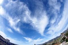 Caprichos del viento. / Wind vagaries. (loadmaster_b707) Tags: sky inca clouds wind viento cielo nubes