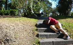 SleepingOnTheStreetsOfCostaRica (D.OliveroS) Tags: park sleeping man men digital project costarica stair sleep dream sanjose dreaming asleep compact