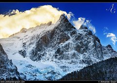 Goliath (TranceVelebit) Tags: park winter cloud mountain snow france alps wall la wind peak national ecrins meije