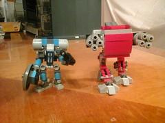 Blue Commissar and Red Heavy Walker (regniwekim) Tags: mobile lego frame zero mecha mech mfz
