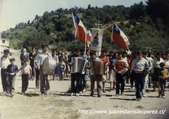 Orquesta chilota acompañando la procesión de la Virgen de Lourdes