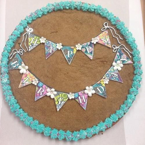 Vera Bradley banner cookie cake