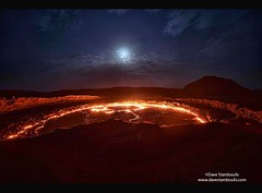 The lava lake in the crater of Erta Ale volcano in the Danakil Depression, Ethiopia (jitenshaman) Tags: africa travel tourism fire volcano lava hell flame traveling ethiopia volcanic boiling molten worldtravel afar lavalake gatewaytohell basaltic danakil ertaale worldlocations danakildepression basalticshieldvolcano