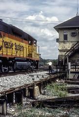 Chessie 4222  8-29-87  HO Tower (Vince Hammel Jr) Tags: railroad trains scanned