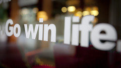Go Win Life... (Viktoryia_Vinnikava) Tags: life window bokeh fineart letters win phrase