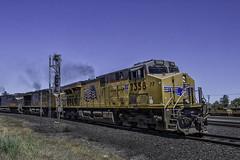 UP 7358 (smbrooks_2000) Tags: california railroad train rail trains rails unionpacific weathered locomotive railroads roseville