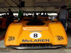 M8F (BenGPhotos) Tags: show orange chevrolet sports car race racing event mclaren prototype motor 1972 fos v8 goodwood motorsport canam festivalofspeed 2015 m8f m8fp