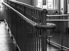 The Dark Railing (Kool Cats Photography over 7 Million Views) Tags: blackandwhite monochrome lines architecture dark artistic railing tectures