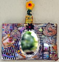 Dont forget to dream... (* Cludia Helena * brincadeira de papel *) Tags: brazil brasil idea mixedmedia quadro canvas colagem papermache papelmache ideias cludiahelena
