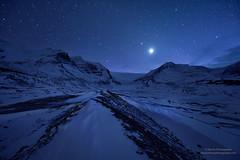 "Starring Night at Icefield (Mengzhonghua) Tags: icefield canada canadianrockies ""starring night winter glacier"