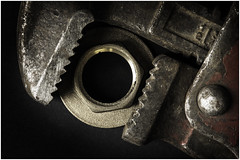 Macro Mondays - The Space In Between - Wrench and Back Nut (In Explore -28 Feb 2017) (andymoore732) Tags: macromondays macro mondays thespaceinbetween daylight naturallight andymoore colour nikon d500 afs vr micronikkor 105mm f28gifed challenge theme flickr