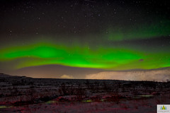 Blowing in the (solar) wind (Elf-8) Tags: iceland northernlights auroraborealis night star moutain ridge