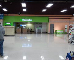Huntington Bank Branch... (Nicholas Eckhart) Tags: america us usa columbus ohio oh retail stores hilliard former closed empty closing gianteagle supermarket groceries interior
