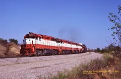 SLSF 753-750-768-772, Tulsa, OK. 8-23-1980 (jackdk) Tags: train railroad railway locomotive emd emdgp40 emdgp402 gp40 gp402 frisco slsf freighttrain freight cherokeeyard tulsa tulsaoaklahoma standardcab