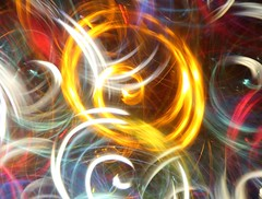 1 Swirling Inside (Robert Cowlishaw-Mertonian) Tags: colors abstract swirling twisting colours canon powershot g7x mark ii canonpowershotg7xmarkii mertonian lightpainting robertcowlishaw spinning connected red white yellow dark light translucency circles curvy cosmic joining moving