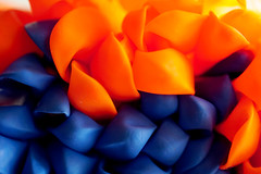 Orange and Blue (ShannonVanB) Tags: macromondays orangeandblue orange blue contrast vibrant macro upclose balloons