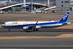 All Nippon Airways   Airbus A321-200   JA114A   Tokyo Haneda (Dennis HKG) Tags: ana nh allnippon allnipponairways airbus a321 airbusa321 aircraft airplane airport plane planespotting tokyo haneda rjtt hnd ja114a staralliance canon 7d 100400
