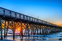 Myrtle Beach Sunrise (The Suss-Man (Mike)) Tags: 2ndavenuepier atlanticocean beach horrycounty myrtlebeach nature ocean pier secondavenuepier sky sonyilca77m2 southcarolina sunrise sussmanimaging thesussman water