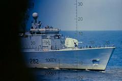 HMCS Athabaskan tracking a Russian submarine off Bermuda (bluenosersullivan) Tags: athabaskan hmcsathabaskan navy canadiannavy iroquois iroquoisclass nato retired 282 tribalclass 280class decommissioning paidoff bluenosersullivan davesullivan ber