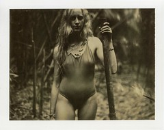 Jungle Baby (Ca$hreno) Tags: polaroid polaroid195 polaroidchocolate film instantfilm portrait portraiture jungle hawaii beauty beautiful expiredfilm analog girlsonfilm epsonv700 love polaroidphotography filmphotography model muse pose mood emotion photoshoot forest vintage wild free shadows