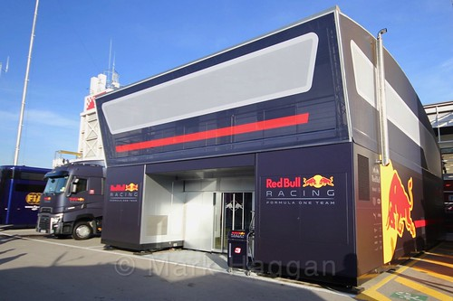The Red Bull team at Formula One Winter Testing 2017