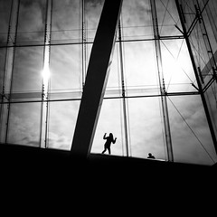 (Svein Nordrum) Tags: bw blackandwhite bnw silhouette oslo opera dennorskeopera contrast 35mm lines monochrome