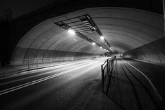 IMG_0476 (G_HOWDEN) Tags: urban street black white road exeter cranbrook tunnel monochrome