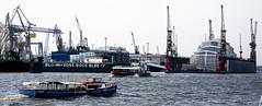 B&V Dock Elbe 17 (cmdpirx) Tags: hh hamburg germany elbe hafen blohm und voss dock 17 industrie seefahrt werft schiff boot barkasse kran kräne wasser