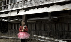 Little Girl & Her Doll (MichikoSonja) Tags: abandoned cottage alone haunting