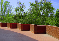 Terrace (chrisk8800) Tags: terrace bricks angles lines geometric structure texture composition barcelona trees bushes