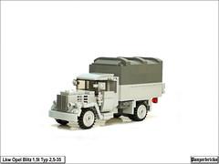 OpelBlitz15t-03 (Panzerbricks) Tags: panzer panzerbricks lego wehrmacht opelblitz1 5t lkw