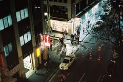 Sydney (goodfella2459) Tags: nikon f4 af nikkor 50mm f14d lens cinestill 800t 35mm c41 film analog colour sydney streets night cars traffic lights milf
