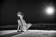 Wedding portrait at White Sands (Mitch Tillison Photography) Tags: wonderful joyful beautiful celebration life portrait love happiness laughter smiling joy loving happy laughing embrace hug wedding marriage husband wife couple whitesands shoot photo photography mitchtillison nikon d5 tamron 2470 godox strobe lighting dramatic bride groom night nighttime