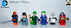 Batman's Villains (Random_Panda) Tags: lego figs fig figures figure minifigs minifig minifigures minifigure purist purists character characters comics superhero superheroes hero heroes super comic book books films film movie movies tv show shows television batman deathstroke penguin the riddler joker hugo strange deadshot villains dc