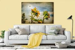 sunflower couch (Sierra Springs Photography) Tags: livingroom art wallmockup