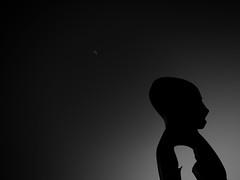 HugeBoy (Darwin_Sc) Tags: black white bw bielefeld moon statue