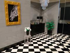 Hall (Heksu) Tags: lego hall hallway painting flower crystal chandelier mirror wardrobe
