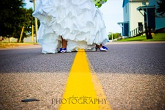 i heart middle of the road wedding shots.... (gkgirl) Tags: blue wedding summer white weddings yellowline middleoftheroad