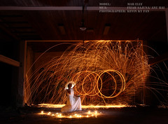 W5417 (Kevin KY Fan) Tags: longexposure people lightpainting person singapore experimental human slowshutter protrait humanbeing humaninterest lighttrail steelwool protraiture