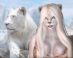 Lioness RL & SL (Alea Lamont) Tags: animal cat african avatar tail lion ears whiskers neko lioness afrikan ndmd