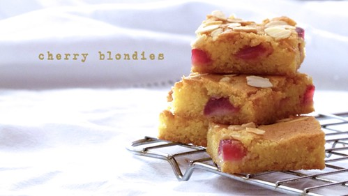 Cherry Blondies