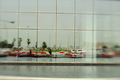 doha reflection (meeeeeeeeeel) Tags: street city travel urban reflection tourism lines lensbaby self grey nikon pattern middleeast abstraction doha qatar d90 sooc